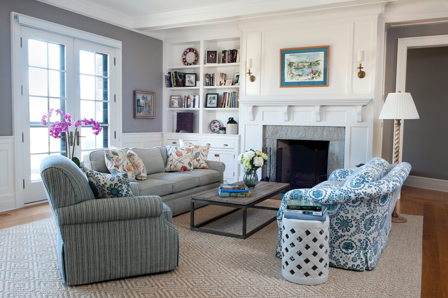 Coastal new england style home decoration club for New living room ideas
