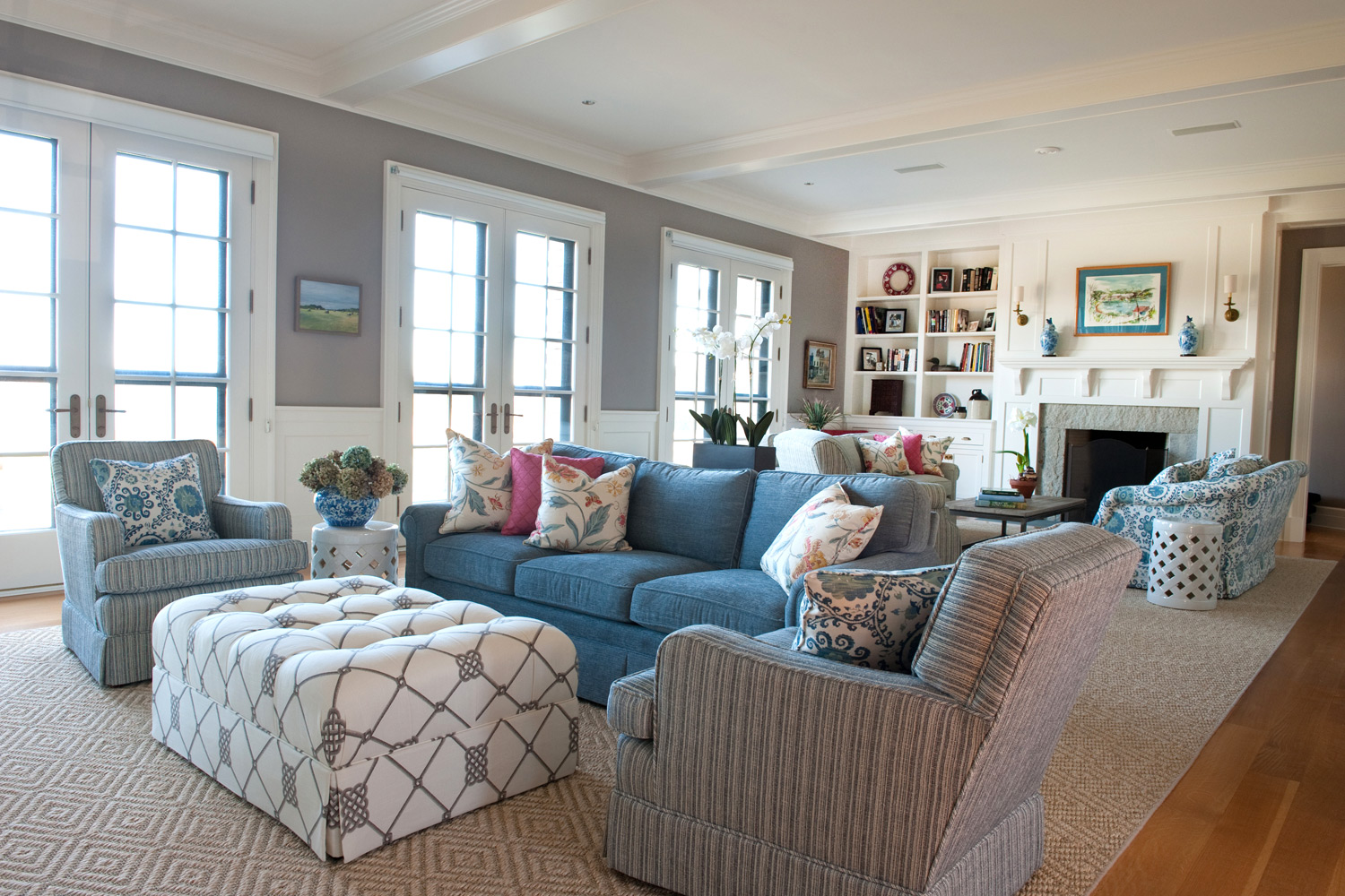 Coastal new england julie warburton design for Coastal living rooms ideas