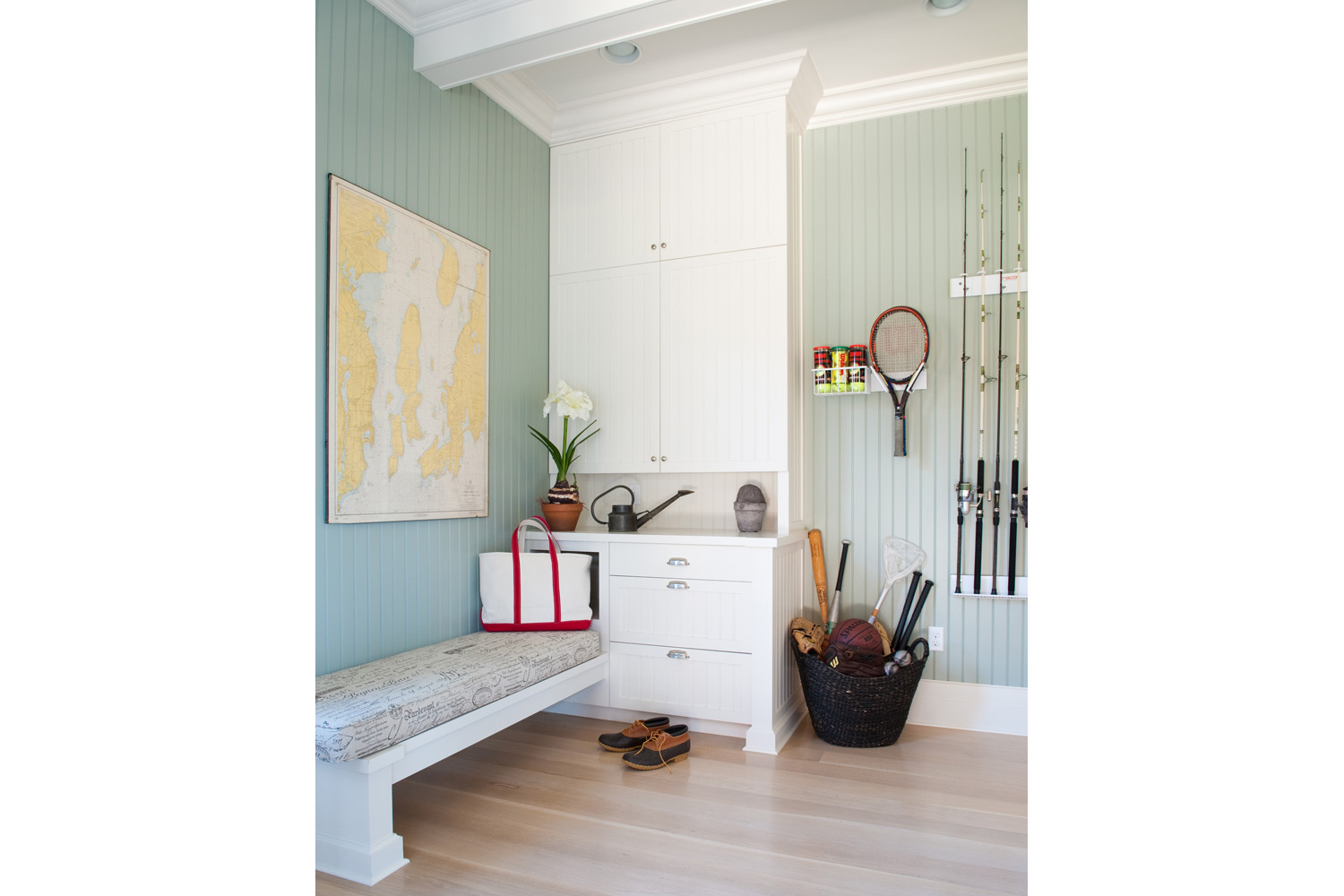 Coastal New England Mudroom