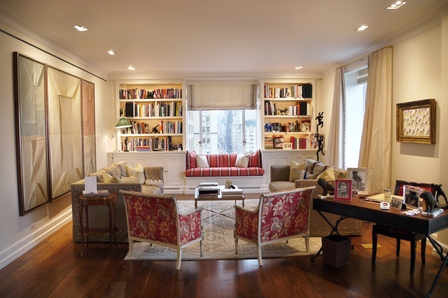 New york city julie warburton design for Living room nyc