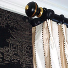 Fabric, Finials, Wallpaper